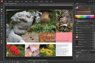 """Garten - Kunst. Beispielbild aus dem Online-Kurs """"Vom Bild zum Buch mit Affinity Publisher."""" von Peter Hoffmann. fotoforum Akademie."""