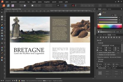"""Bretagne - Land der Mythen und Legenden. Beispielbild aus dem Online-Kurs """"Vom Bild zum Buch mit Affinity Publisher."""" von Peter Hoffmann. fotoforum Akademie."""