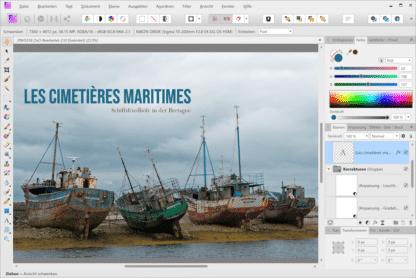"""Les cimetières maritimes - Schiffsfriedhöfe in der Bretagne. Beispielbild aus dem Online-Kurs """"Bildbearbeitung mit Affinity Photo."""" von Peter Hoffmann. fotoforum Akademie."""