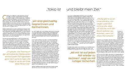 """Leseprobe aus dem Buch """"GER - many are one."""" """"Tokio ist und bleibt mein Ziel."""""""