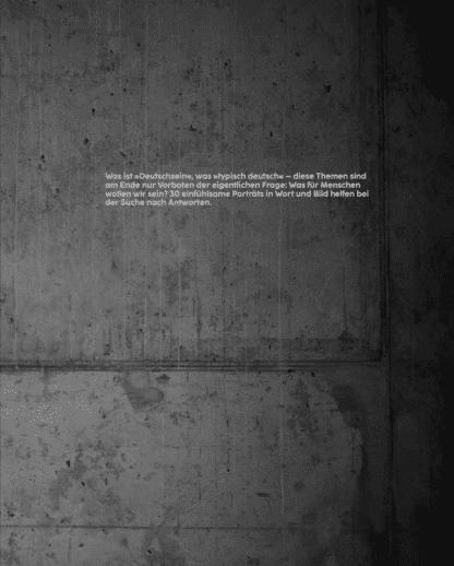 """Buchcover Rückseite. Schwarz-Weiß-Bild aus dem Buch """"GER - many are one. Typisch Deutsch im Spitzensport"""""""